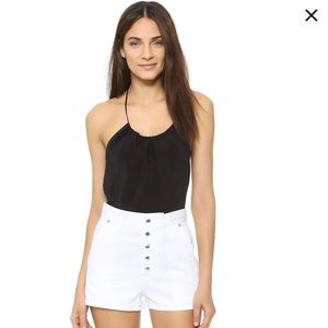 Rag and bone White Branson High Waisted  Shorts